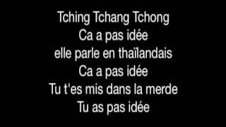 L'algerino tching tchang tchong. Paroles