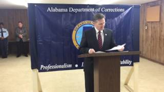 Alabama Department of Corrections Commissioner Jeff Dunn press conference on Robert Melson Execution