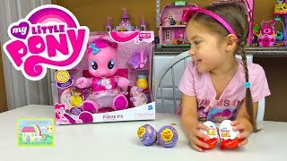 CUTEST EVER BABY MY LITTLE PONY PINKIE PIE + Kinder Surprise Eggs + MLP Chupa Chups Surprise Toys