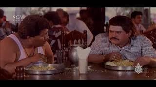 Jaggesh Comedy Scenes - Jaggesh comes to hotel to eat comedy scenes   Bhanda Alla Bhahaddur