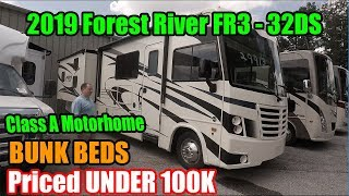 2019 Forest River FR3 32DS - Class A Motorhome with Bunk Beds