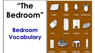 Learn Bedroom Vocabulary. Easy English Conversation Practice.