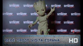 Guardianes de la Galaxia Vol. 2 de Marvel | Bebé Groot visita España |  HD