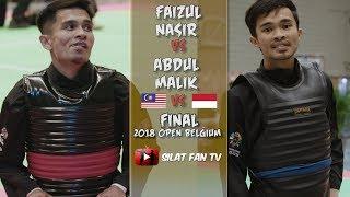 FAIZUL NASIR VS ABDUL MALIK | PENCAK SILAT 2018 OPEN BELGIUM