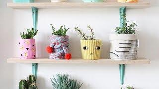Cara Memanfaatkan Barang Bekas Jadi Barang Unik l Beautiful Pots with Recycled Materials