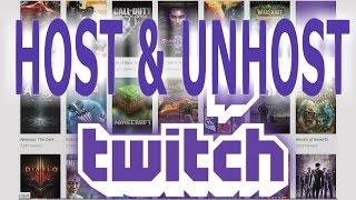 how to host and unhost someone in twitch using host mode
