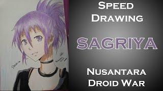 Speed Drawing - Sagriya ( Nusantara Droid War )