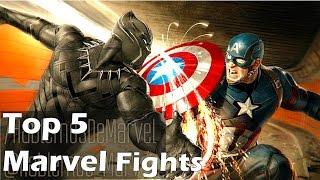 Top 5 Superhero Movie Fights/Duels - MCU