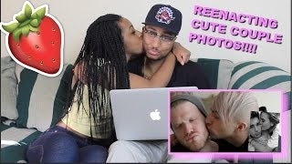 Couple Reacts : REENACTING CUTE COUPLE PHOTOS! by Superfruit Reaction!!!
