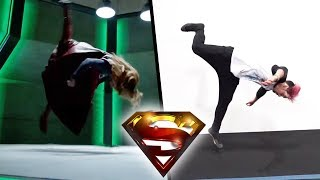 Stunts From Supergirl In Real Life (the cw)