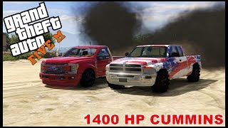 GTA 5 ROLEPLAY - 1400 HP CUMMINS DIESEL DIRT DRAG RACE  - EP. 414 - CIV