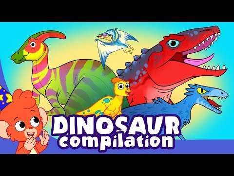 Learn Dinosaurs for Kids Cute and Scary Dinosaur Cartoon videos Club Baboo