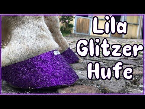 Escada bekommt lila Glitzer Hufe ♥