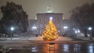Raleigh, NC Overnight Snow Scenes From Winter Storm - 12/9/2018