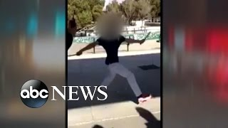 School Shooting CAUGHT ON CAMERA | Police Shoot Student Wielding Knife