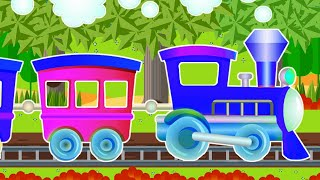 Cars and trains cartoon for children - Educational video - Cartoon for baby