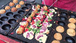 New York City Street Food - Takoyaki Octopus Balls たこ焼き / 章魚燒 / 章鱼烧 / 타코야끼