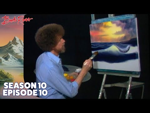 Bob Ross Ocean Sunset Season 10 Episode 10