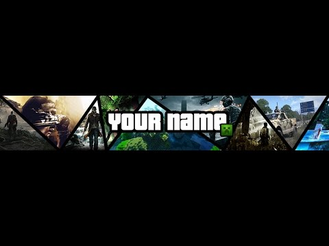 Youtube Gaming Banner Template | Speedart Template Banner Multi Gaming Photoshop Playithub