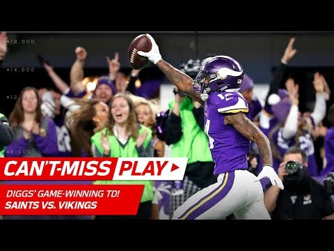 Stefon Diggs Makes Miracle TD Catch on Last Play Vikings Win 🦄 Can t Miss Play NFL HLs