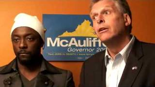 McAuliffe and Will.I.Am Join Campaign Forces