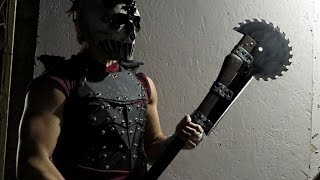 The Ultimate SAW BLADE BATTLEAXE! (Halloween Special)