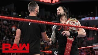 Roman Reigns to defend the Universal Title against Finn Bálor: Raw, Aug. 20, 2018