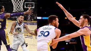 Stephen Curry vs Lonzo Ball! Curry 13 Points in Overtime! Warriors vs Lakers 2017-18 Season