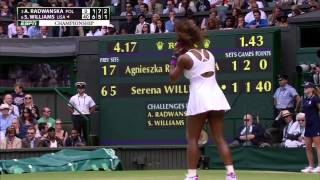 Serena Williams► Serves 4 ACES in a row @ Wimbledon 2012