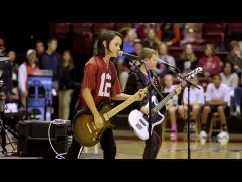 6th grade band WJM performs at halftime of Stanford game 2014