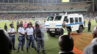 Chaos at Moses Mabhida Stadium after Kaizer Chiefs VS Free State Stars Nedbank Cup match
