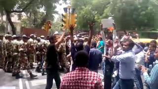 ***ABVP CSEJUSTICE PROTEST OUTSIDE UPSC***