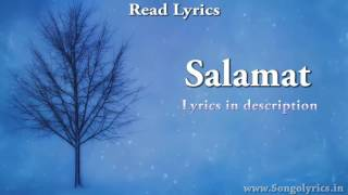 Salamat Sarbjit   Full Song with Lyrics   Amaal Mallik, Arijit Singh & Tulsi Kumar