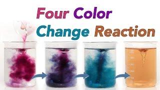Four Colour Change Reaction (Chameleon Chemical Reaction)