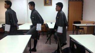 Bhutanese funny student
