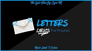 LETTERS || Lyrics || The PropheC || New Punjabi Song 2016 || Syco TM