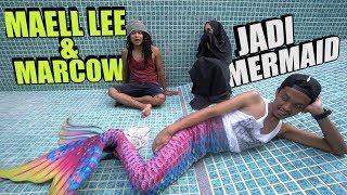 MAELL LEE & MARCOW JADI MERMAID SEHARIAN! Mermaid Terkuat Di Bumi😱
