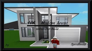 40K Modern House | Roblox Bloxburg | Subscriber Build | Speedbuild |