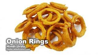 Onion Rings Recipe Video in Hindi - Urdu - Easy, Quick & Simple