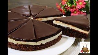 كيكة ال 6 ملاعق الاسفنجية ب 3 طبقات وب٢ بيضة فقط من اطيب الكيكات اللي ممكن تعلموها روووعة  cake#