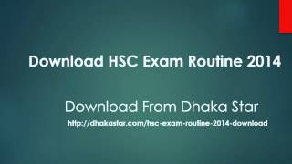 HSC Exam Routine 2015 BD All Education Board