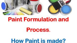 Paint Formulation and Process. How Paint is made?