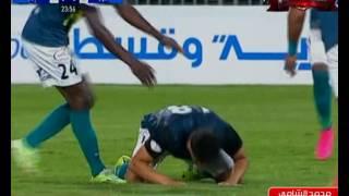 محمد الشامي يسجل الهدف الأول لإنبي فى المصري