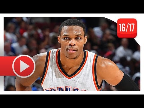 Russell Westbrook Full Highlights vs 76ers (2016.10.26) - 32 Pts, 12 Reb, 9 Ast (ESPN Feed)