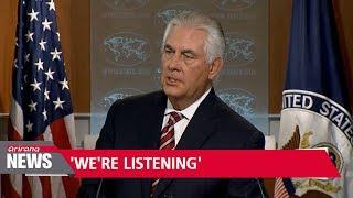 U.S. waiting for sign N. Korea ready for talks: Tillerson