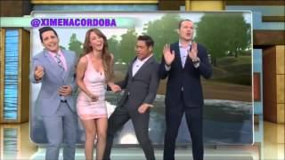 Two Mexican Weather Girls Dancing In Tight Dresses