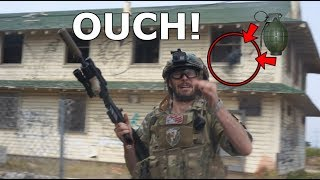 Grenade EXPLODES ON Airsoft Player