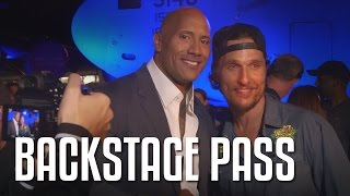 Backstage Pass with The Rock feat. Kevin Hart, Terry Crews, Tenacious D & More!!