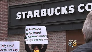 Community Rallies For Equality Outside Center City Starbucks