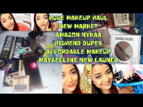 Huge Makeup Haul Maybelline New launch| Newmarket Kolkata| Highend Dupes(Lookalikes) | Budget Makeup
